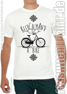 keep calm and use a bike  - Shirt von FLASHLIGHTprint auf DaWanda.com
