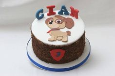 For Cian to celebrate his 3rd birthday. Inside: rich dark chocolate cake layered with strawberry coulis and chocolate buttercream. I hope he liked it! - http://ift.tt/1Q9cLnn
