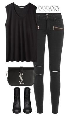 """""""Untitled #4844"""" by eleanorsclosettt ❤ liked on Polyvore featuring Paige Denim, T By Alexander Wang, Yves Saint Laurent and ASOS"""