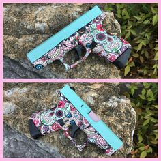 Love this!!!- Burdett & Son Outdoor Adventure Shop Custom Glock 42! Hydrodip from H2O Ink and Clear Coat and Cerakote by Burdett & Son! Collaborations always turn out so well!