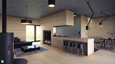 Uniwersalny plus natura z aranżacją Comfort Open Kitchen, Home And Garden, Table, Design, Inspiration, Furniture, Home Decor, Behance, Interiors
