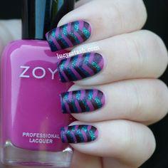 Lucys Stash - Fishtail braid nail art with Mash Matte polish