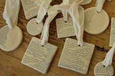 Sophisticated Salt Dough  - these are so cool, would be great to do with the kids for Christmas!!