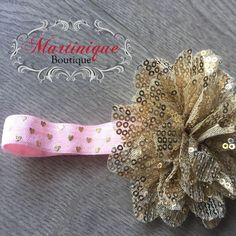 A personal favorite from my Etsy shop https://www.etsy.com/listing/586036957/gold-mesh-sequin-flower-on-pink-w-gold