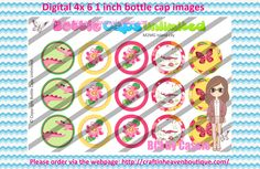 1' Bottle caps (4x6) Digital m2mg island lily #M2M #bottlecap #BCI #shrinkydinkimages #bowcenters #hairbows #bowmaking please purchase via link  http://craftinheavenboutique.com/index.php?main_page=index&cPath=323_533_42_51