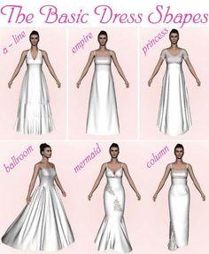 Dress Shapes Event Dresses Bridal Formal Perfect Wedding