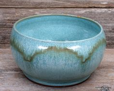 turquoise bowl with