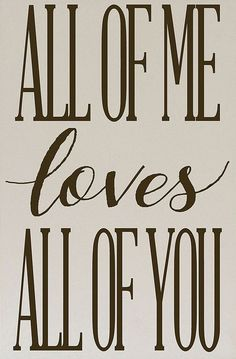 Vinyl Crafts Cream & Brown All of Me Loves You Wall Sign