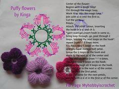 Watch The Video Splendid Crochet a Puff Flower Ideas. Wonderful Crochet a Puff Flower Ideas. Puff Stitch Crochet, Crochet Puff Flower, Crochet Flower Patterns, Crochet Flowers, Crochet Stitches, All Free Crochet, Unique Crochet, Love Crochet, Crochet Motif