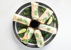 Free ganesh's meat Rice Rolls, Rice Paper Rolls, Cooking Recipes, Healthy Recipes, Healthy Food, Carrot And Coriander, Rice Vermicelli, Frozen Peas, How To Eat Less