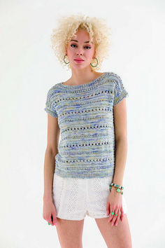 Ravelry: Eyelet Top pattern by Rosemary Drysdale Vogue Knitting, Lace Knitting, Knitting Stitches, Knitting Patterns Free, Knit Shrug, Eyelet Top, Summer Knitting, Top Pattern, Lana