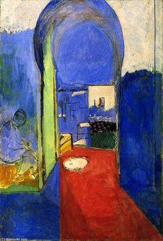 Acheter Tableau 'Entrée de la Casbah' de Henri Matisse - Achat d'une reproduction sur toile peinte à la main , Reproduction peinture, copie de tableau, reproduction d'oeuvres d'art sur toile