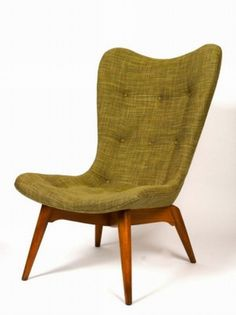 Grant Featherston Contour chair, moulded plywood frame and… - Australian - Grant Featherston - Furniture - Post 1950 - Carter's Price Guide to Antiques and Collectables Furniture Styles, Find Furniture, Home Furniture, Furniture Design, Vintage Chairs, Vintage Furniture, Mid Century House, Mid Century Modern Furniture, Cool Chairs