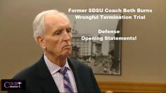 Former SDSU Coach Beth Burns Trial Defense Opening Statements Part 1 08/...