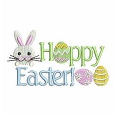 Hoppy Easter machine embroidery design from embroiderydesigns.com