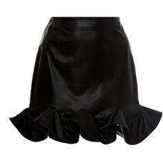 Zeynep Arçay Ruffles Mini Skirt (8427890 PYG) ❤ liked on Polyvore featuring skirts, mini skirts, black, frilled skirt, flounce skirt, ruffle mini skirt, ruffle skirts and short skirts