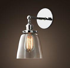 Simple & elegant glass sconce. #GElighting