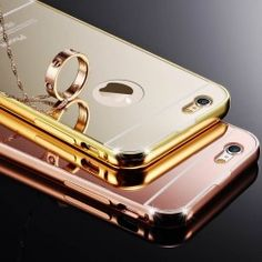 Luxury Mirror Back Cover Skin Metal Aluminum Frame Case For Apple iPhone