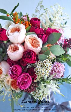 Beautiful Flowers Nature, Sola Flowers, Pink Flowers, Beautiful Flower Arrangements, Floral Arrangements, Flower Bouquet Wedding, Floral Wedding, Amazing Flowers, Beautiful Flowers