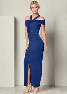 Ruched Detail Long Dress,High Heel Strappy Sandals Formal Dress Shops, Formal Dresses, Perfect Fit, Party Dress, Strappy Sandals, High Heels, Unique, Casual, Color
