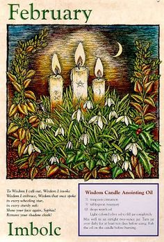 Imbolc February 2nd, Wisdom Candle Anointing Oil