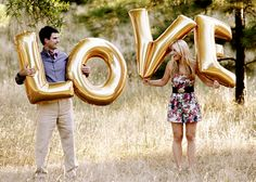 We did this for our save-the-date photo so I'm partial but I think it's genius! (we used balloons in our date...10-01)