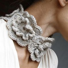 Crochet:  scarf by Marianne S.  Everything she does is so chic!