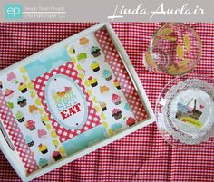 Altered Tray from Let's Picnic Mini Theme. #echoparkpaper