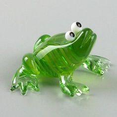 Лягушка из стекла Фигурка: