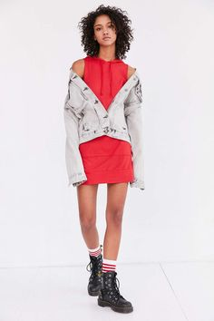 Truly Madly Deeply Shrunken Hoodie Dress - Urban Outfitters