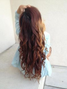 Brown curly extensions