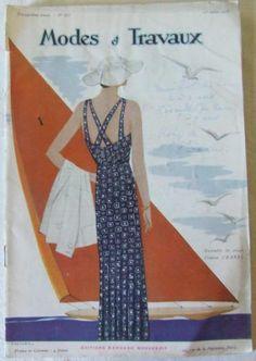 Magazine MODES et TRAVAUX n°373 Juillet 1935 - création Chanel en couverture