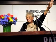The inspirational Dr. Maya Angelou.  I was in my early twenties when I first read some of her poetry and fell in love with this wonderful soul!