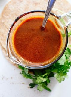 Enchilada sauce is so easy to make! This red enchilada sauce recipe comes together in ten minutes. I've tried all the other recipes and this is the best!