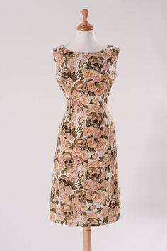 Hey, I found this really awesome Etsy listing at https://www.etsy.com/listing/178428247/skull-roses-retro-shift-wiggle-dress-pin