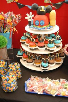 Our Mickey Mouse clubhouse letters on a candy table 😊 | Customer ...
