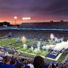 What celebrations do they do every game? I have never been to a Kentucky football game and I'm excited to go. Why did the name change from Commonwealth Stadium to Kroger Field? How long are the pre game ceremonies vs the actual game? University Of Kentucky Football, Kentucky Sports Radio, Uk Football, Kentucky Basketball, Football Stadiums, College Football, Football Program, Football Field, Sports Basketball