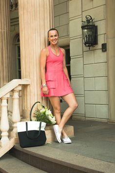 Martina Hingis in the Harmony tennis dress from Spring 2015 collection. Serena Williams, Sports Celebrities, Celebs, Tennis Legends, Tennis Players Female, Tennis Stars, Tennis Dress, Athletic Women, Sport Girl