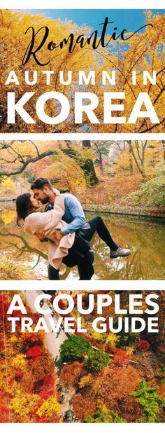 Romantic Spots to Enjoy Autumn in Korea: A Couples Travel Guide--With bold seasonal colors of Nami Island, Namsan Mountain (N Seoul Tow. Romantic Destinations, Romantic Vacations, Romantic Getaways, Romantic Travel, Travel Destinations, Romantic Escapes, South Korea Travel, Asia Travel, Wanderlust Travel
