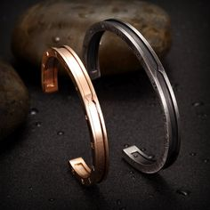 23098af4bc Ciunofor Stainless Steel Bracelets for Couples Cuff Bangle Bracelets for  Women Men Jewelry Gift 5.Gray and Rose Gold Couples Bracelets >>> Want  additional ...