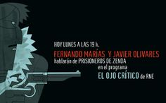 """Advertising flyer made for a radio interview about """"Prisioneros de Zenda"""" book."""