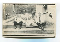 Vintage postcard of family and children with old Boys Renunion pennants, Brantford Ontario Plait, Old Boys, Montreal, Ontario, Postcards, Toronto, Places To Go, History, Children