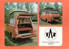 Who knew? Vintage Rv, Vintage Trailers, Camper Caravan, Camper Van, Classic Campers, Van Home, Car Brochure, Cool Vans, Car Posters