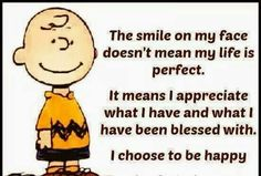 The smile on my face doesn't mean my life is perfect. It means I appreciate what I have & what I have been blessed. I choose to be happy.