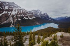 Peyto Lake, Rockies, Canada | Photo by Kristina of Little Home by Hand