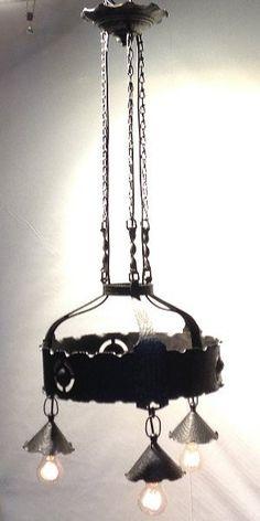 around 1910 Goberg (Hugo Berger) wrough… Goberg chandelier Arts & Crafts Germany; around 1910 Goberg (Hugo Berger) wrought iron. Still for sale Ceiling Lamp, Ceiling Lights, Home Crafts, Arts And Crafts, Chandelier Art, Stills For Sale, Wrought Iron, Germany