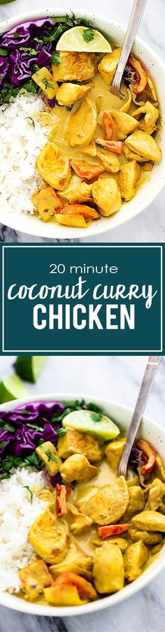 Easy 30 Minute Coconut Curry Chicken | can sub tomato paste for red thai curry