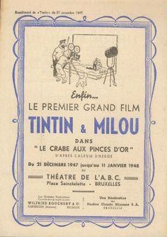 Les Aventures de Tintin :: Film Le Crabe aux pinces d'or 1947