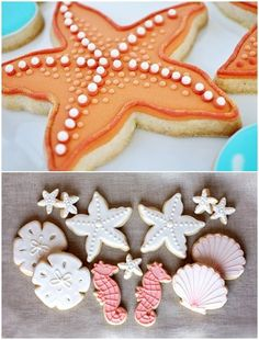 Beach Party...starfish cookies, pops and all the makings on this blog!