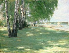 Max Liebermann - The Garden of the Artist in Wannsee, 1918
